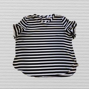 LOFT Black and White Striped Top XL